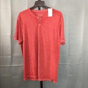 Lucky Brand Venice Burnout SS XL Henley T-shirt